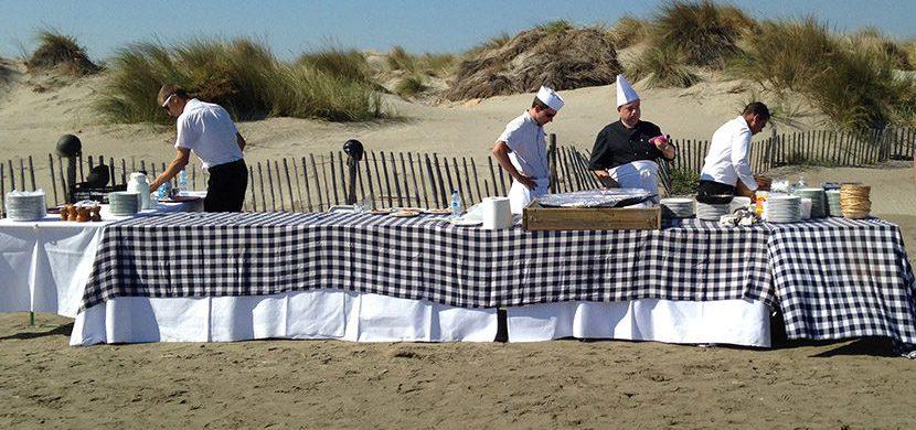 comunchef, événement entreprise - repas sur la plage